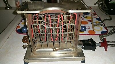 WORKING Antique 1927 TORRID TOASTER w/ Swing out Bread Rotater PAT Nov 15, 1920