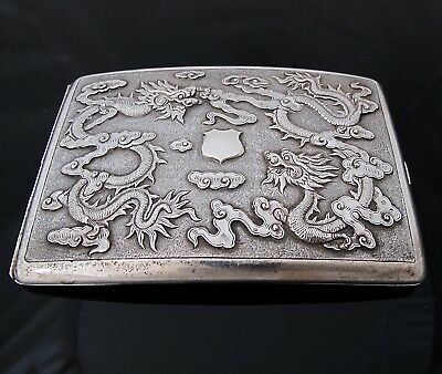 Outstanding quality Chinese Export cigarette case c 1900