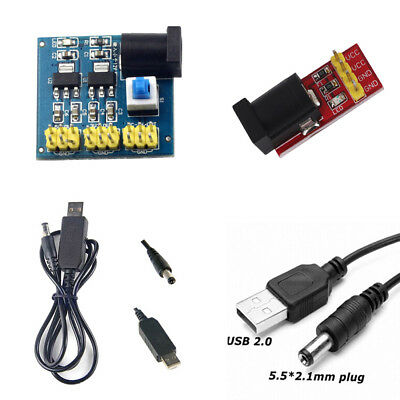 USB 2.1x5.5mm Male Connector Plus Step Up Converter DC 5V to DC 9V/12V ASS
