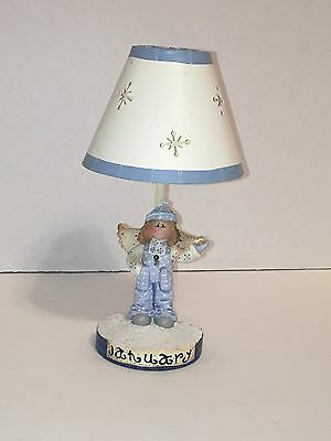 CRAZY MOUNTAIN GIFTS TEA LIGHT LAMP W/ SHADE Yankee Candle Co January Angel