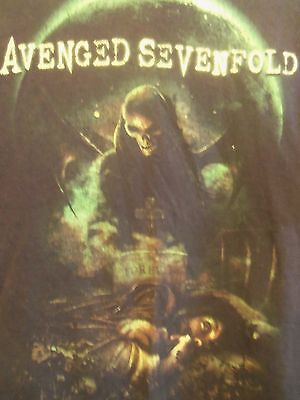 avenged sevenfold black graphic L t shirt