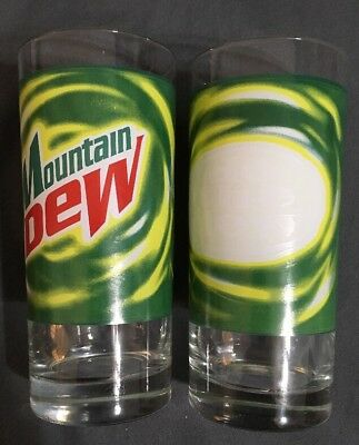 Hard To Find MOUNTAIN DEW Do The Dew Collectible Glass! Mt. Dew Soda Lot Of 2