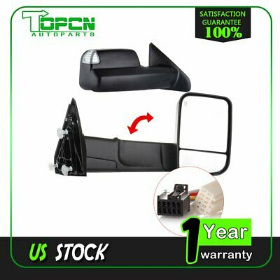 Power Heat Signal Puddle Light For 2018 Dodge Ram 1500-3500 Tow Side Mirror Pair