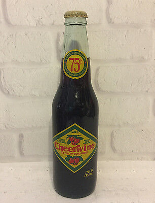 Cheerwine 75th Anniversary Soda Bottle Full Vintage Collectible Glass