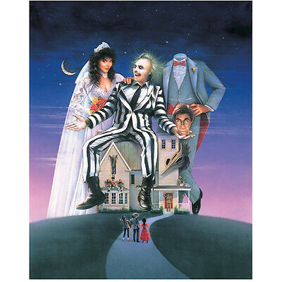 Beetlejuice cast poster art with house 8 x 10 Inch Photo