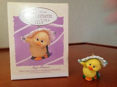 "1995 Hallmark Easter Spring Keepsake Ornament ""MAY FLOWER"" Club Edition NIB"