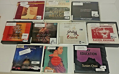 GENERAL FICTION AUDIO Books Lot of 10 on CD FREE SHIPPING Unabridged