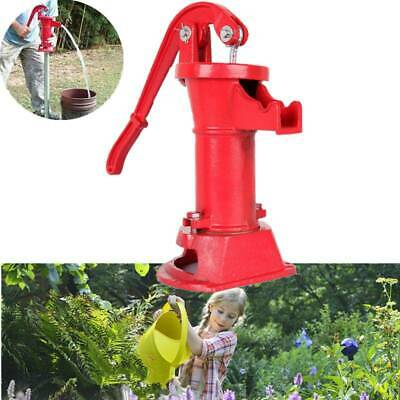 Garden Hand Water Pump Well Pitcher Cast Iron Press Suction Outdoor Yard Ponds