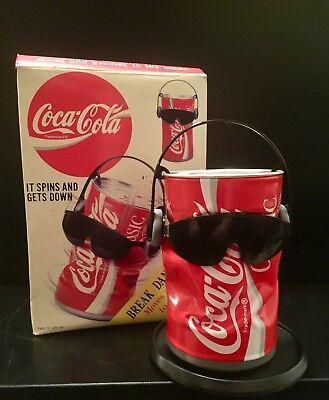 1991 Break Dancing Coca-Cola Collectible Can Spins & Grooves to Music Sound Coke