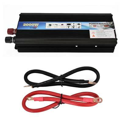 2000W Portable USB Car Power Inverter DC 12V to AC 110V/220V Charger Converter