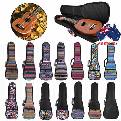 "21"" 23"" 26"" Ukulele Protective Colorful Soft Case Padded Gig Bag Backpack Straps"