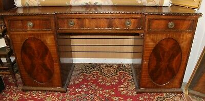 Quality Antique Georgian Secretaire Mahogany & Brass Handles