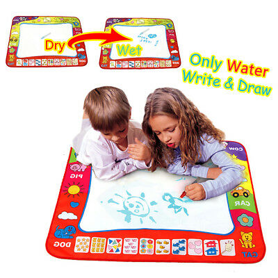 80X60cm Water Drawing Mat Kids Toy Writing Painting Board + 2 Magic Pens Doodle
