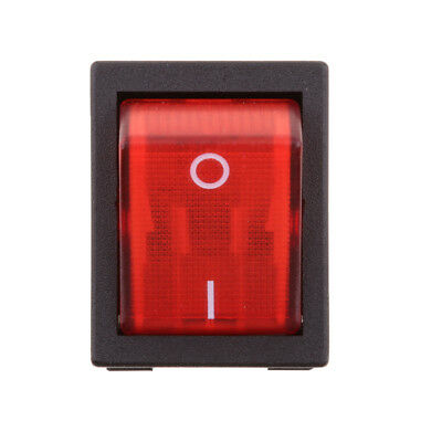 20A/250V DPST 4 Pin Red LED Light Boat Marine Rocker Switch On Off Button