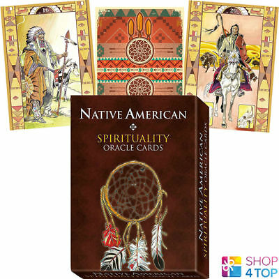 Native American Spirituality Oracle Cards Deck Esoteric Telling Lo Scarabeo New