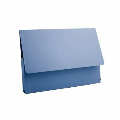 Guildhall A4 Document Wallet 285gsm Blue PDW4-BLUZ Pack of 50 [GH14037]