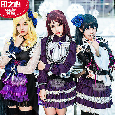 2017 Love Live Sunshine Aqours Mari Ohara GK Punk Dress Rock Cosplay Costume