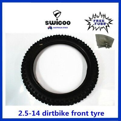 14 Inch 2.50-14 Front Knobby Tyre With Free Tube Pit Pro Dirt Bike Trail Bike