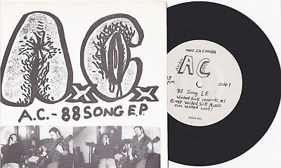 "Anal Cunt - 88 Song E.P. 7"" FIRST PRESS A.C. Siege Dropdead Infest Spazz Grind"