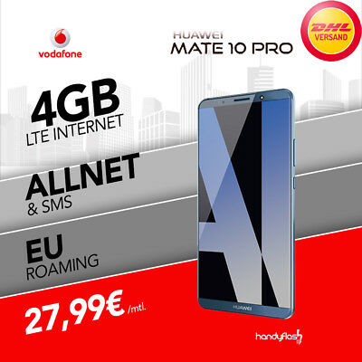 Huawei Mate 10 Pro Vodafone Young M Handyvertrag nur 27,99€ mtl. 4GB LTE