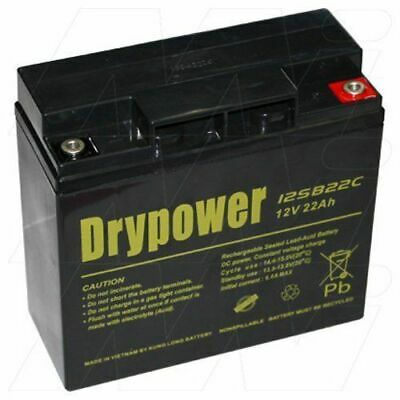 DRYPOWER 12SB22C 12V 22Ah SLA Battery BP17-12 BP20-12 EP17-12
