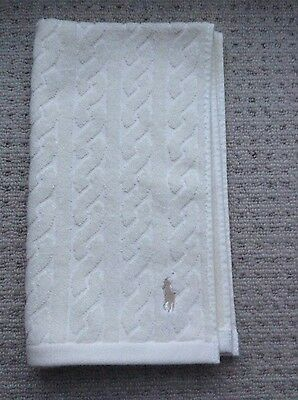 Ralph Lauren Home Polo Luxury Cable Reversible Guest Towel - Clotted Cream, BNWT