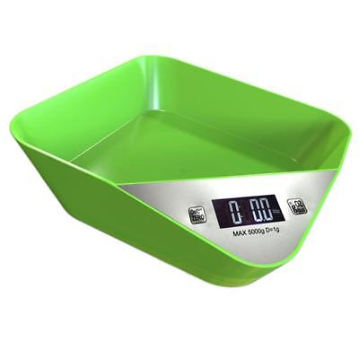Salter Digital Kitchen Scale 5kg Plastic Cooking Food Weighing Scales Green
