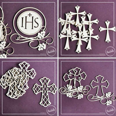 Chalice & Host First Communion Ornaments Chipboard Shapes Cardmaking Craft