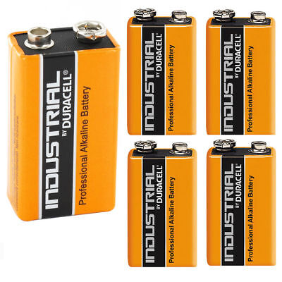 5X Duracell Industrial 9V PP3 MN1604 Block Alkaline Batteries Replaces Procell