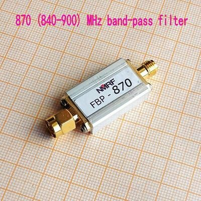 New 870 (840 ~ 900) MHz bandpass filter, ultra-small size SMA interface