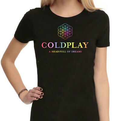 COLDPLAY Band T-shirt Head Full Of Dreams Black Unisex T Shirt Loose Casual Fit