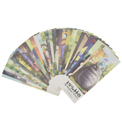 32 Pcs/Set Cartoon Totoro Bookmark Paper Labels Card Stationery Office Supplies