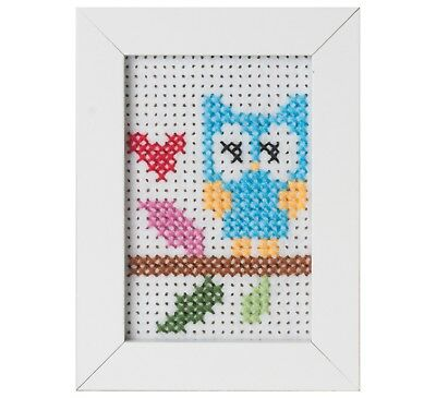Beginners / Childrens Counted Cross Stitch Kit with Frame - Owl - GCS02