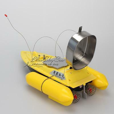Updated Fishing Bait Boat Lure Carp Boat 300M RC Remote Control+9600mAh Battery