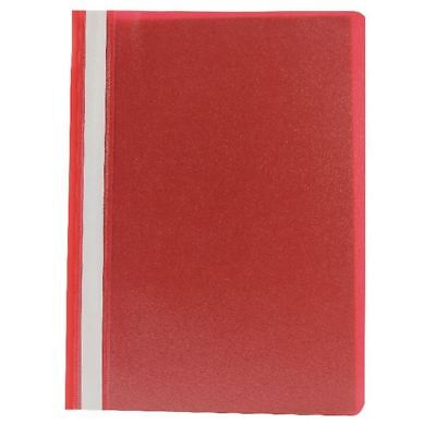 Q-Connect Red A4 Project Folder (Pack of 25), Standard 8cm [KF01455]
