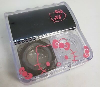 Small Happy Kitty Coloured Contact Lens Lenses Travel Kit Mirror Case Tweezers