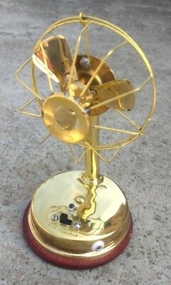 Vintage Brass Chargeable Gifting Running Mini Fan Toy Home Decore.