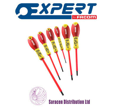 Expert By Facom 6Pc Screwdriver Set 1000V Insulated Phillips & Slotted - E160910