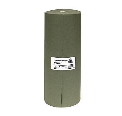 Easy Mask 15 in. x 1000 ft. Green Masking Paper Drop Cloth Automotive Paint