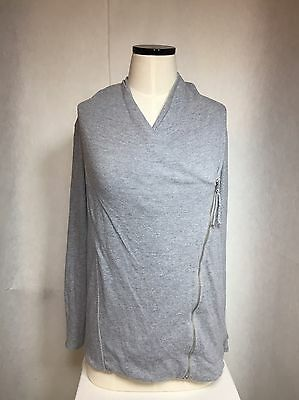 Motherhood MATERNITY Heather Grey Side zipper Shawl Neck Sweatshirt Size Small