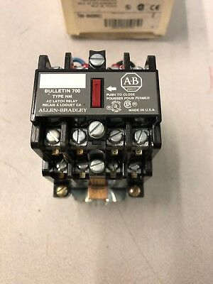 Allen Bradley 700-NM600A1 Relay 700NM600A1 Type NM AC Relay Latch Type NEW