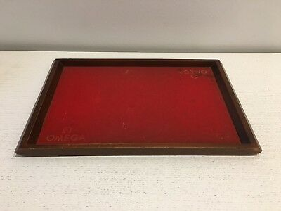 Old Tray OMEGA Bandeja Antigua - VINTAGE - Wood Madera - 40 x 25 x 2,5 cm - Used