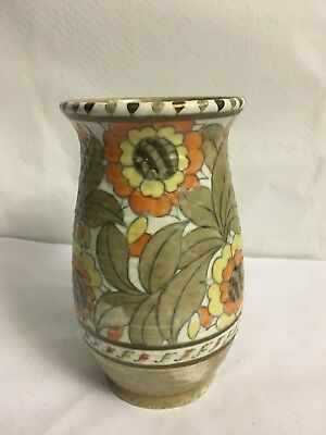 Charlotte Rhead Crown Ducal Signed Sunflower Vase 22 cm High (AB)
