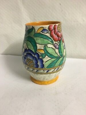 Charlotte Rhead Crown Ducal Signed Art Deco Vase 15 cm High