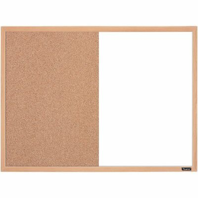 Standard Dry Erase And Cork Combination Board 17x23 Inches Oak Frame Whiteboard