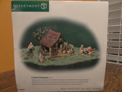 New Department 56 New England Village Series Its Almost Thanksgiving #56639
