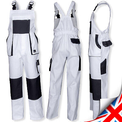 Work Trousers Bib and Brace Pants Overalls Multi Pocket Painters Decorators UK.