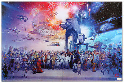 STAR WARS GALAXY 23x35 POSTER WALL ART SPACE FANTASY MOVIE FILM ICONIC GIFT COOL