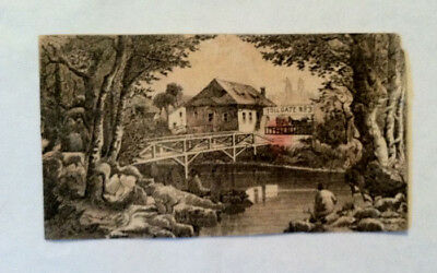 Antique Victorian Trade Card 1800S. Sex Book & Tonic Hidden Objects Tollgate #3