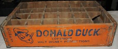 Sunbow Donald Duck Soda Orange Colored Crate Walt Disney C.1950's